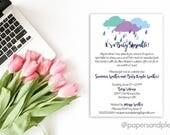 Sprinkle Baby Shower Invitation - Printable File
