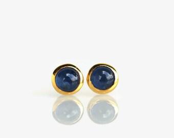 sapphire earrings, sapphire stud earrings, blue sapphire, sapphire studs, September birthstone, sapphire jewelry, 4mm stud earrings