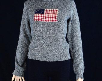 90's Vintage Ralph Lauren Sports Knit Turtleneck Sweater / Women Size Medium