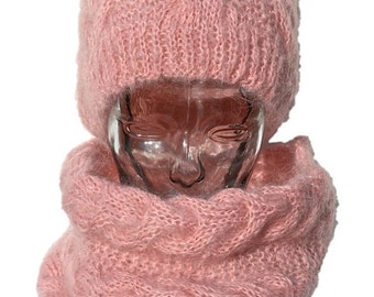All Hat & scarf mohair