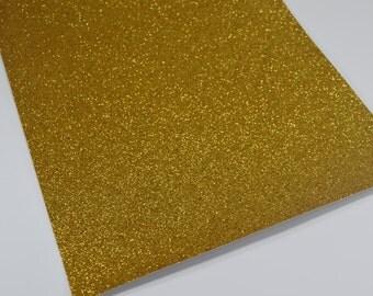 YELLOW GOLD fine glitter canvas sheet,8x11 canvas sheet, gold glitter sheet,canvas backed glitter fabric sheet,glitter fabric material