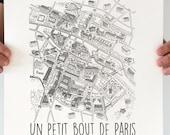 Illustration Art Paris silkscreen Poster format A3