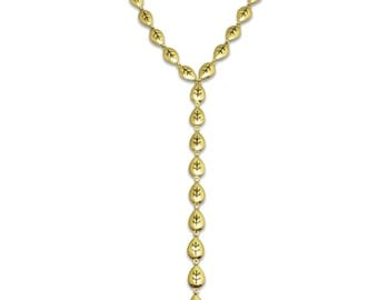 Falling Leaves Necklace Gold Fashion Jewelry Y Necklace Lariat