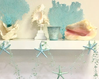 Beach Decor - Starfish Garland - Star fish Beach Wedding Decor Coastal Nautical