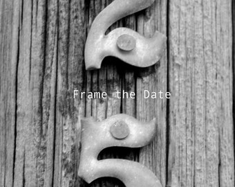 Digital download photo 25, custom date photography of black & white photograph of number seventeen, instant download to create your date