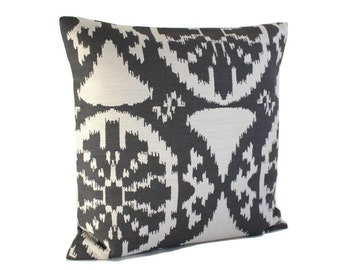 Gray Pillow Cover, Decorative Pillow Cover, Grey Cushion Cover, Throw Pillow, Pillow Sham, Accent Pillows - Inca Grey