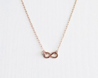 Rose Gold infinity necklace . minimal jewellery . charm necklace . eternal love . Australia