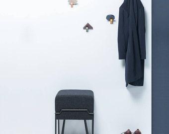 BOKK - Puik Art - Design - Amsterdam - Stool - Interior - Furniture - Steel - Felt - Wool - Powder Coating - Welded - Inspiration - Handmade