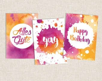 Happy Birthday, Birthday Card, Greeting Cards, Congratulations, Yay, Encouragement Card, Wedding Card, Friendship Card, Anniversary Card