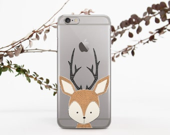 Deer Phone Case iPhone 5s Case iPhone 6 Case Clear with Design iPhone 6s Plus Case Doodle Case to Samsung Galaxy S4 Case Phone 696D1119