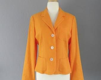 Vintage Ralph Lauren/Linen Jacket/Woman's 8/Designer Vintage/Summer Fashion/Classic/Preppy