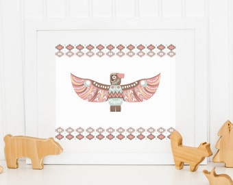 Eagle Printable Tribal Nursery Decor Southwest Nursery Wall Art Native Nursery Decor Boy Nursery Art Native Eagle Wall Art Totem Eagle Print