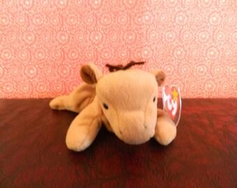 "TY Tan Horse Beanie Baby ""Derby"" (B)"