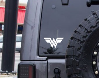 Wonder Woman decal, fantasy decal, FREE SHIPPING, sci fi sticker, Super hero decal, home decor, gift for her, yeti decal, laptop #271