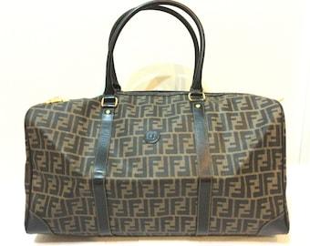 Authentic Fendi vintage Large Hand Bag Travel Duffle