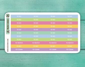 44 Task Header Stickers / Planner Stickers