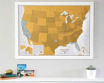Scratch Usa Print Scratch Off Your Travels World Map Map Poster Gift