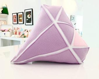 Diamond Stuffed Purple Plush