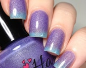 Crushed Berries Purple to Blue Thermal-Changing Shimmer Polish