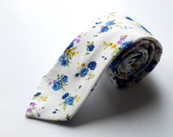 Men's Floral Pattern Neck Tie, Men's Neck Tie, Mens Pattern Tie