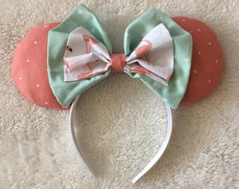 Pink Flamingo Minnie Mouse Ears