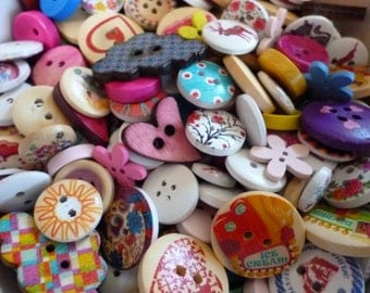 Mixed lot Craft buttons pack of 30 Assorted random