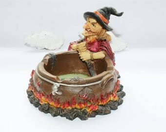 Ashtray, witch, vintage, beetle, motif ashtray, themed ashtray, witch hat, sorcery
