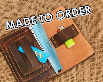 Tobacco leather pouch