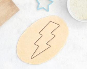Lightning Cookie Cutter - Weather Cookie Cutter Light Bolt Cookie Cutter Thunder Storm Flash Cookie Cutter - 3D Printed
