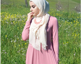 High Waist Long Sleeve Maxi Dress