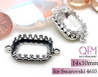 874979bdb8676b 2pcs Octagon 14x10mm Bezel Earrings For Setting w  Crystal ...