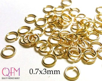 WHOLESALE Gold Filled Jump Rings 21 Gauge 0.7 x 3mm