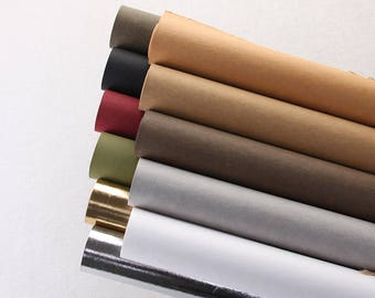 Imported From Germany Kraft Paper Fabric, Washable Paper Fabric,Shopping bag fabric, DIY for bag/ leather standard/ label-10 colors-1/2 yard