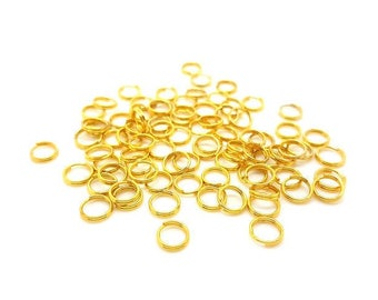 200 Junction rings double Gold 6mm