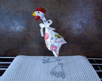 CHICKEN in paper mache candy