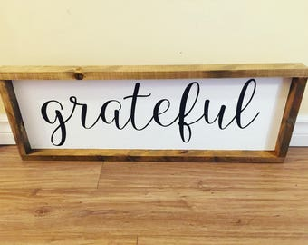Grateful Wall Sign