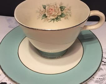 Vintage teacup and saucer Baroness