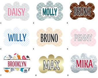 Pet Tags - Aluminum - 2 Styles - 21 designs to choose from - FREE SHIPPING!