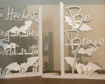 Buffy the Vampire Slayer - 3D Printed Decorative Lightweight Bookends