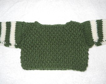 Hand knit sweater for 18 inch doll