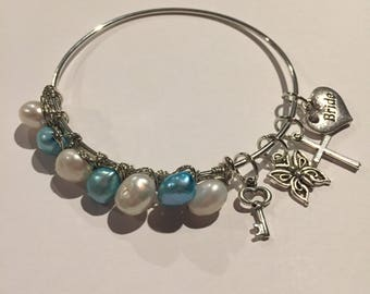 Old, New, Borrowed, & Blue wedding bangle, bride