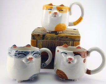 Happy Kitty Mug™ - Patchy Tabby