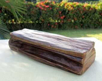 Wooden Box, Rustic Wooden Box, Driftwood Box, Storage Box, Jewelry Box, Wedding Card Box, Recipe Box, Reclaimed Wood Box, Gift for him
