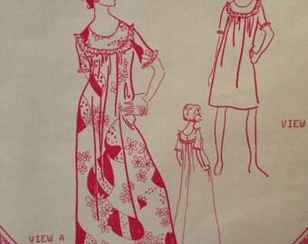 Beautiful Holoku Hawaiian Dress Pattern by Patterns Pacifica---3020---Size Small UNCUT