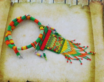 Ethnic necklace, embroidery necklaces, necklace beads, gerdan
