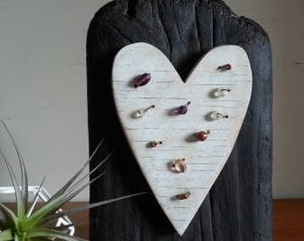 Rustic Folkart Heart made from Salvaged Materials.