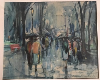 Wonderful Peter Brandstätter Framed and Glazed Watercolour