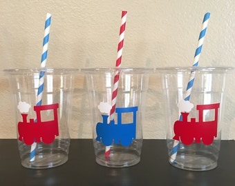 Train Party Cups, Train Birthday party