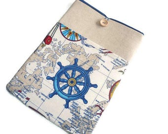 iPad case / iPad Pro sleeve / iPad cover / ipad air case / iPad air 2 sleeve padded / iPad case nautical / ipad case men / nautical