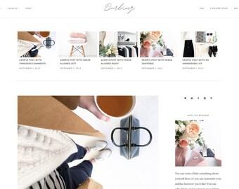 "Wordpress Theme, Minimalist Wordpress Ecommerce Theme Responsive Blog Theme Design ""Darling"" - Genesis Website Theme"